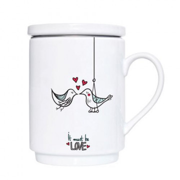 Taza de té Freedom con tapa y filtro We love home [CLONE]
