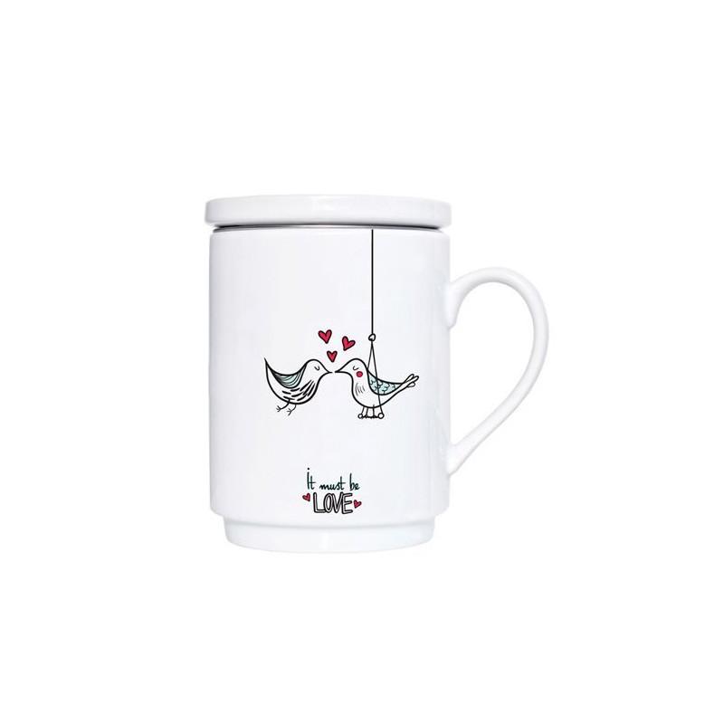Taza de té Freedom con tapa y filtro We love home [CLONE]