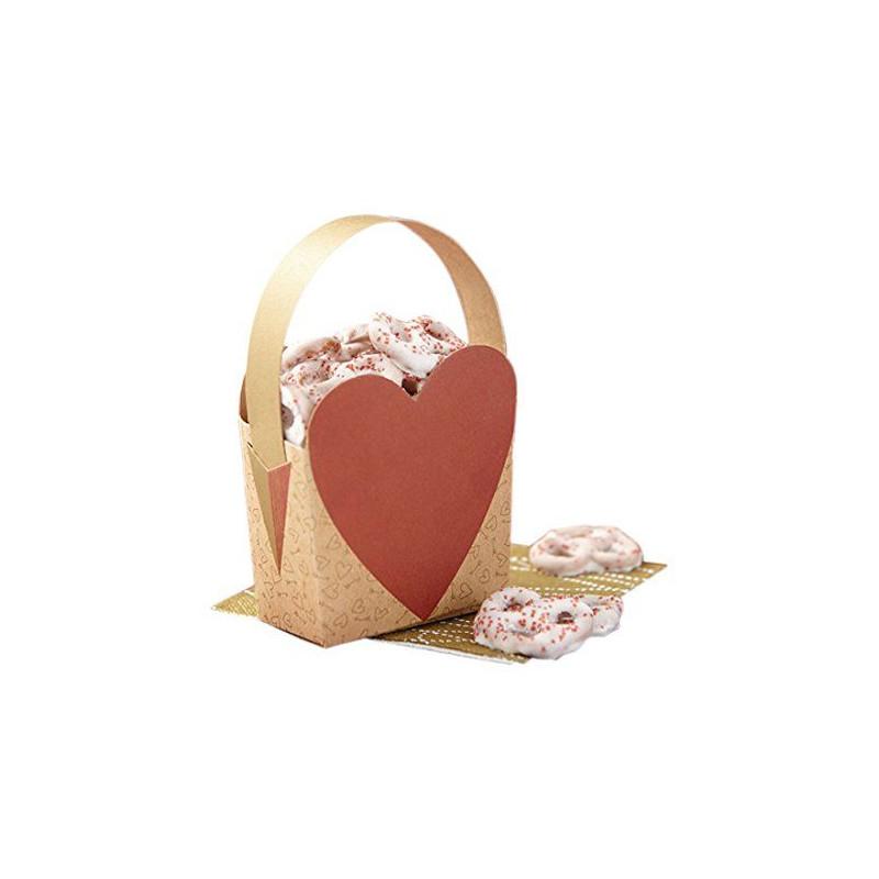 Pack 4 cajas presentación Corazón San Valentín Wilton