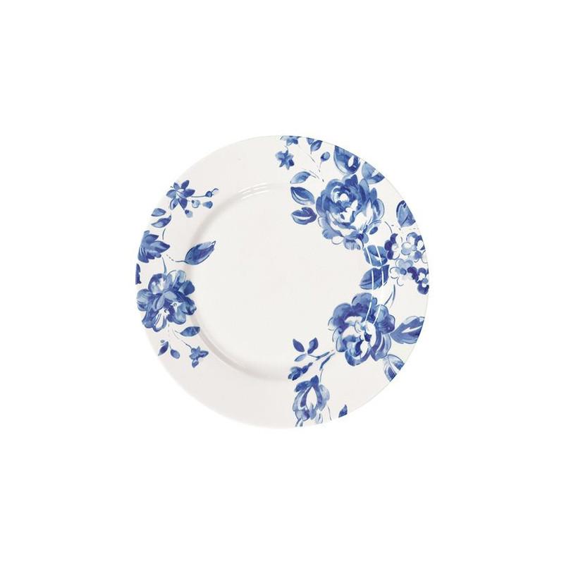 Plato de cerámica Abelone White Green Gate [CLONE] [CLONE]