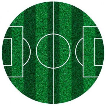 Papel de azúcar 16 cm Campo de Fútbol