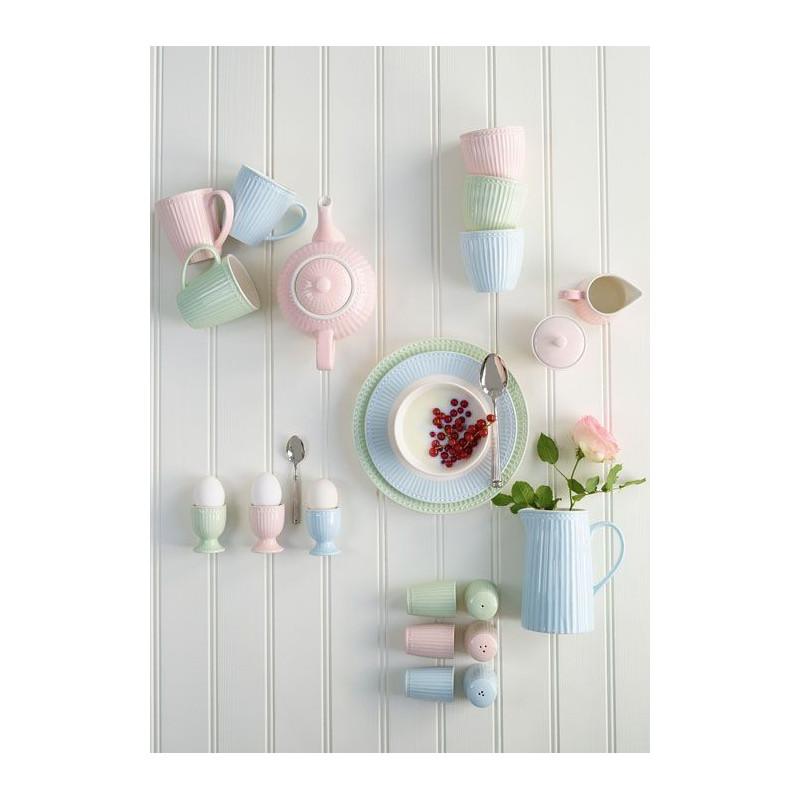 Plato de cerámica Alice Pale Pink Green Gate