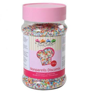 Sprinkles Nonpareils multicolor 250 gr Funcakes