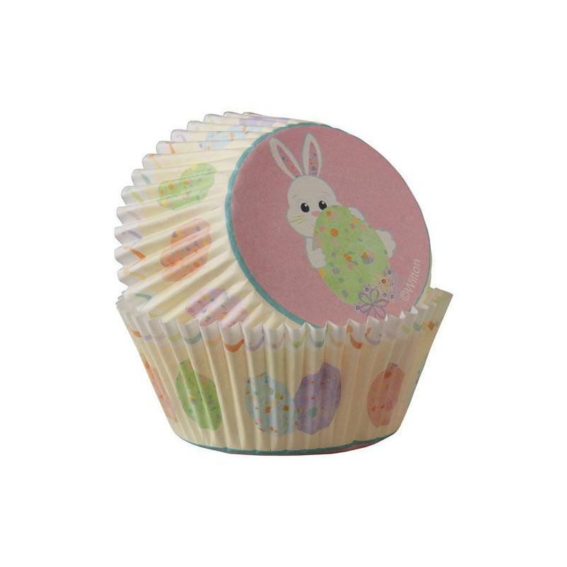 Capsulas cupcakes Conejo y huevos de Pascua Wilton