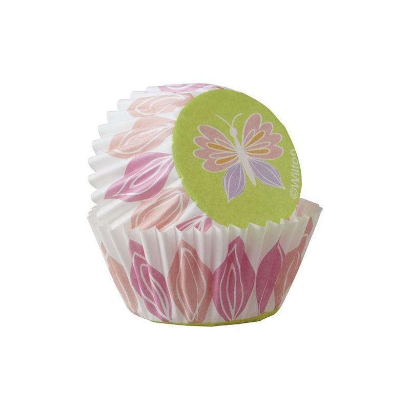 Capsulas mini cupcakes Mariposa Pastel Wilton