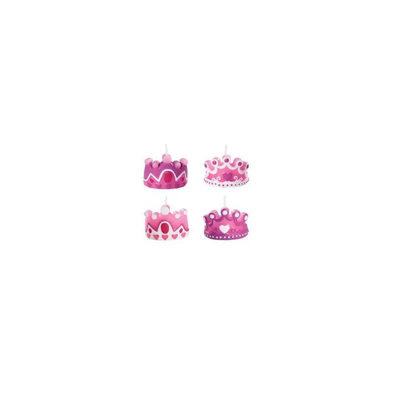Pack de 4 velas Princesas Wilton