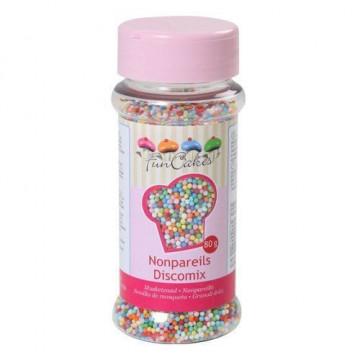 Sprinkles nonpareils mini perlitas multicolor Funcakes