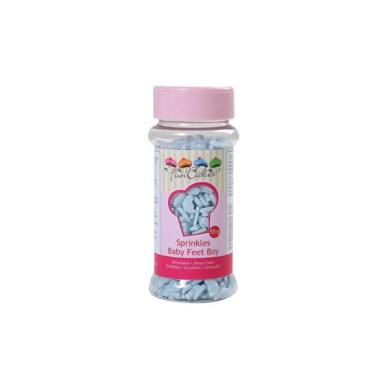Sprinkles pies de bebe rosa Funcakes [CLONE]