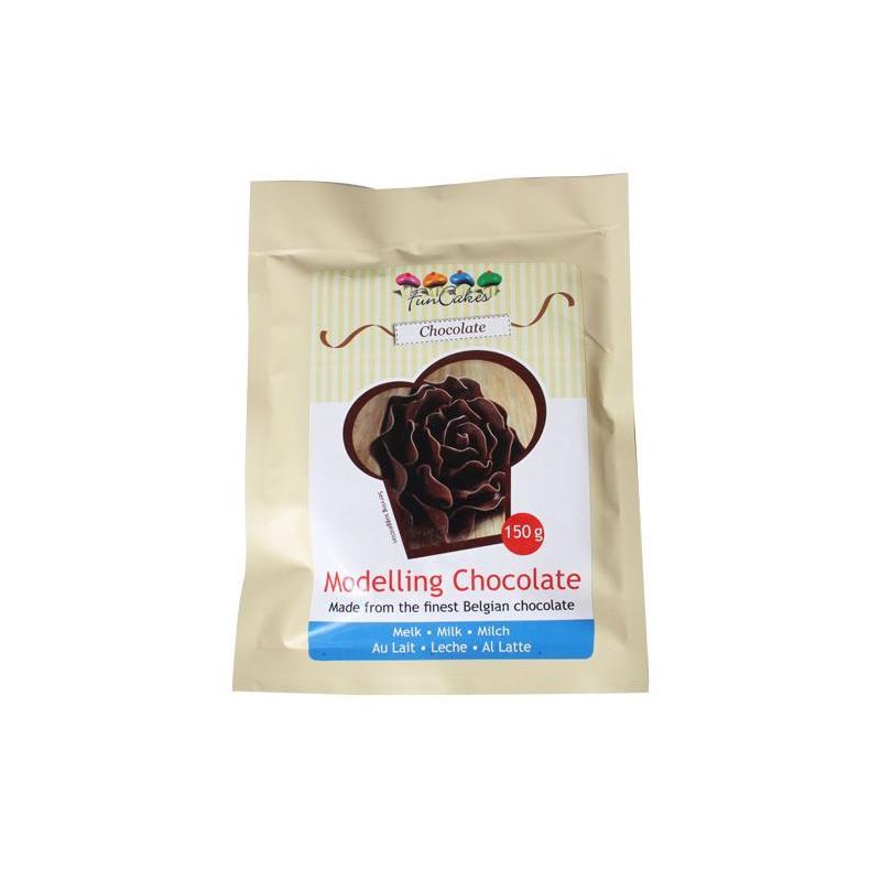 Chocolate plástico de chocolate con leche Funcakes