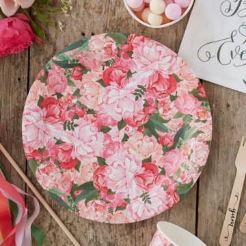 Plato de fiesta Boho Flores Vintage