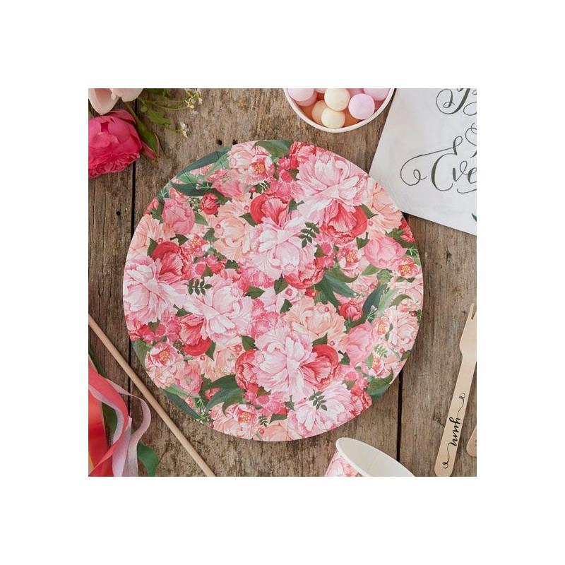 Plato de fiesta Flores Vintage