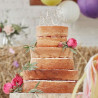 Topper para tarta de madera Happy Birthday