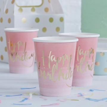 Vasos de papel Happy Birthday Pick and Mix