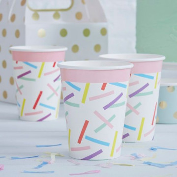 Vasos de papel Confetti Colores Pick and Mix