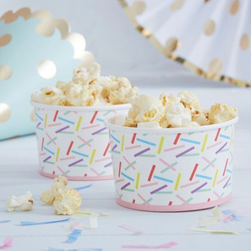 Tarrinas confetti colores Pick and Mix