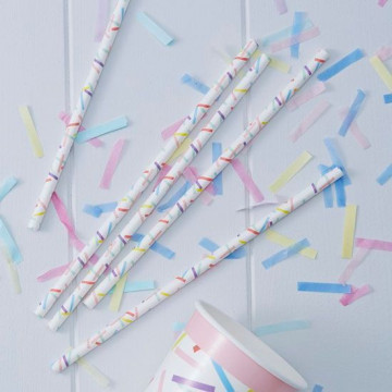 Pajitas de papel confetti colores pick and mix