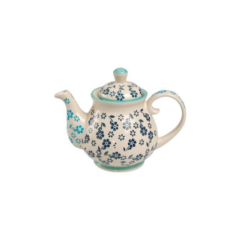 Tetera de cerámica Flores Azules