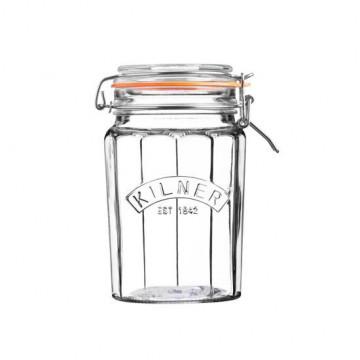 Tarro de cristal hermético rayas 0.95 L Kilner