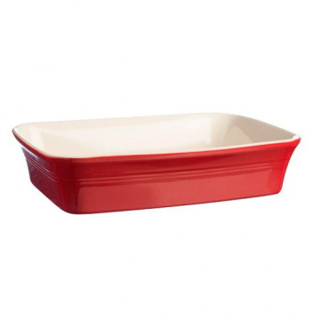 Fuente de cerámica rectangular roja Mason Cash