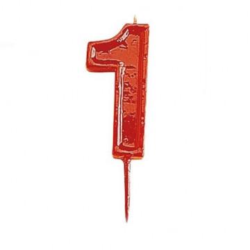 Vela Nº 1 Roja