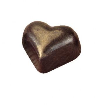 Molde de policarbonato para 35 bombones Corazón Martellato