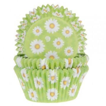 Cápsulas cupcakes Verde con margaritas House of Marie