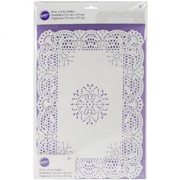 Pack de 30 tapetes blancos de 10 cm Wilton [CLONE]