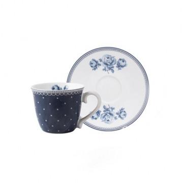 Taza de café + plato Vintage Indigo Katie Alice [CLONE]