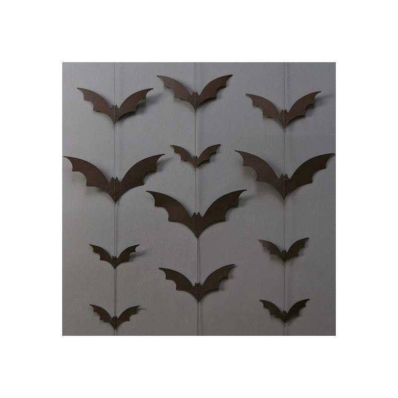 Guirnalda Murciélagos negros