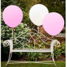 Pack de 3 globos grandes Blanco y Rosa