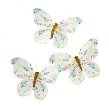 Mariposas para decorar con clips