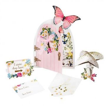 Set de decoración Puerta de Hada y mariposas