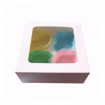 Caja para 6 cupcakes blanca con ventana [CLONE]