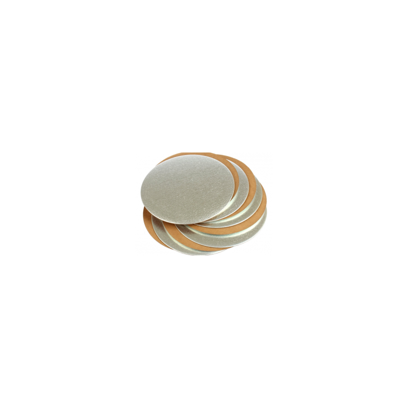 Plato base oro y plata de 18 cm