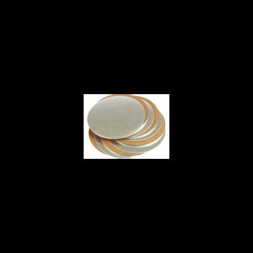 Plato base oro y plata de 22 cm