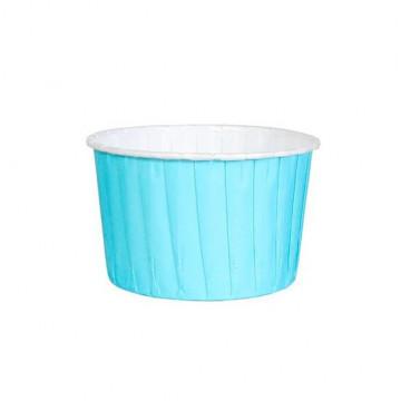 Cápsulas cupcakes muffins rígidas azul