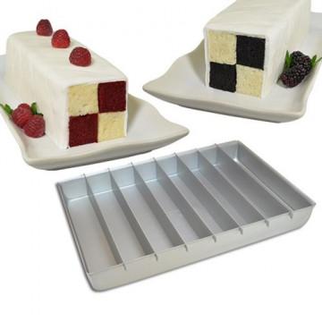 Molde rectangular para hacer tartas domino Fat Daddio
