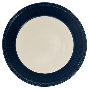 Plato de cerámica de 23 cm Alice Dark Blue Green Gate