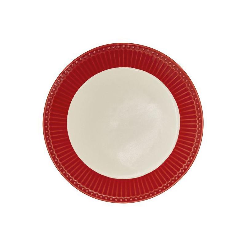 Plato de cerámica de 23 cm Alice Red Green Gate