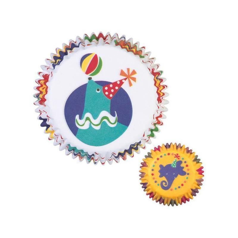 Capsulas mini cupcakes Circo Wilton
