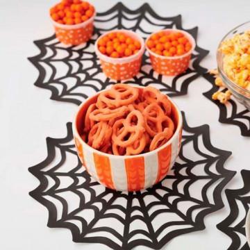 Pack de 10 Tapetes Tela de Araña Halloween Wilton