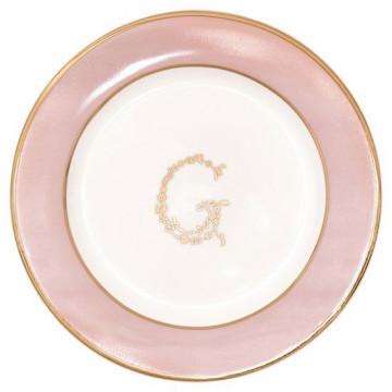 Plato de cerámica de 15 cm G pink Green Gate