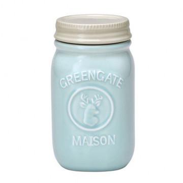 Tarro de cerámica 15 cm Mason Mint Green Gate