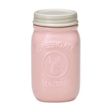 Tarro de cerámica 15 cm Mason Pink Green Gate