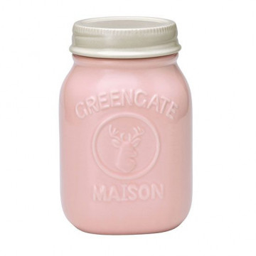 Tarro de cerámica 19 cm Mason Pink Green Gate