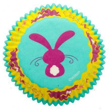 Capsulas cupcakes Sweet Spring Silueta Conejito Rosa Wilton