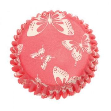 Capsula cupcakes Rojas con Mariposas Culpitt