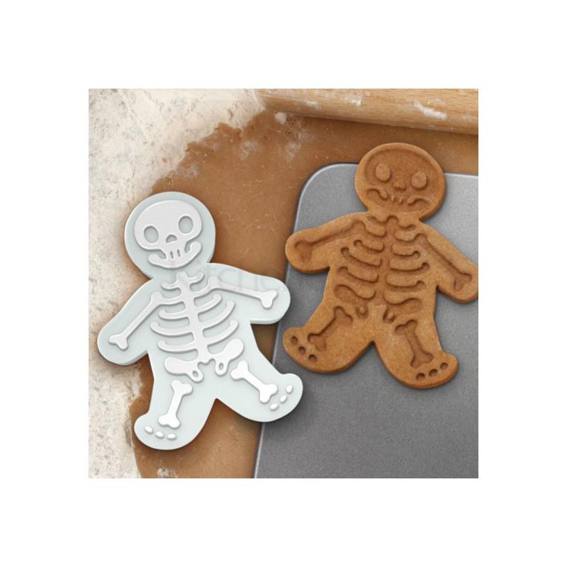 Cortante y marcador de galleta Esqueleto Halloween Kitchen Craft