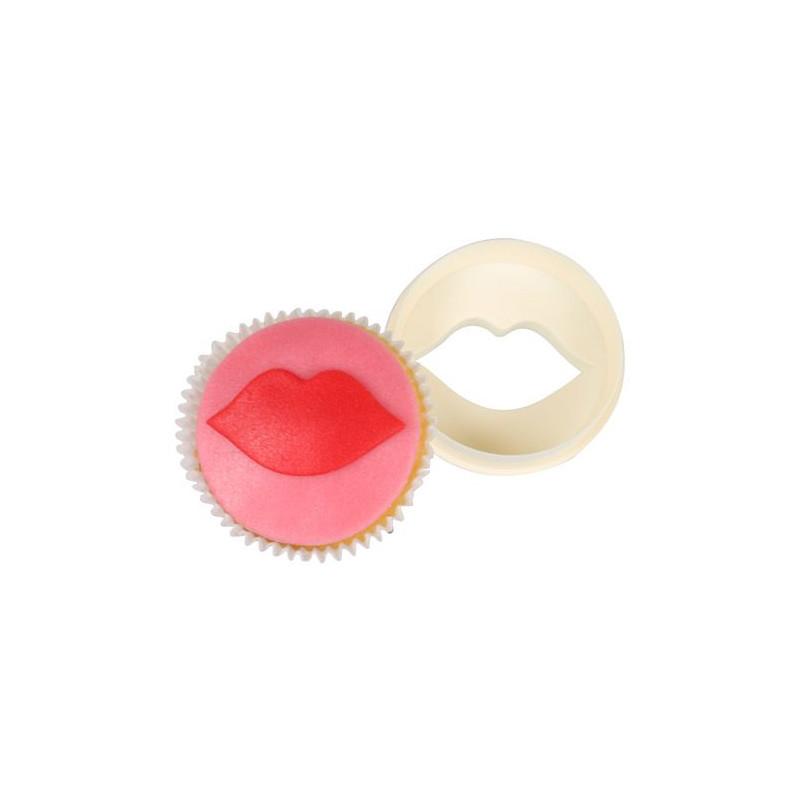 Cortante doble para cupcakes Labios FMM