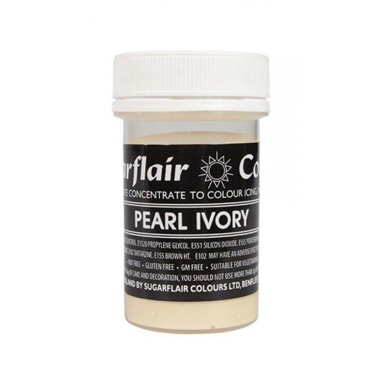 Colorante en pasta Perla Pearl Ivory Sugarflair